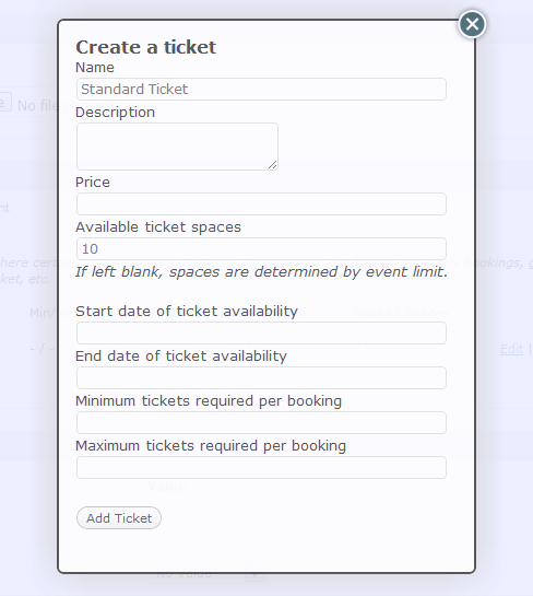 Set up event bookings events manager for wordpress for Event booking form template word