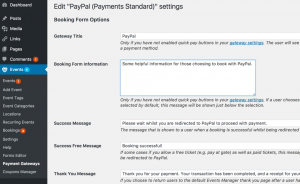 events manager paypal settings