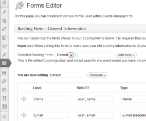 Custom Booking Forms - Events Manager for WordPress