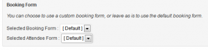 Selecting Attendee forms